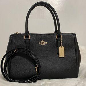 Black Coach Large Surrey Carryall Handbag